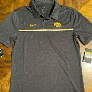 Nike Iowa Hawkeyes Black Team Short Sleeve Polo
